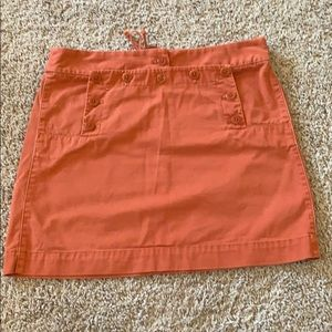 Adorable orange skirt with button accents size 8